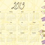 2013 calendar — Stock Vector #12210518