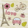 Paris vector — Stock Vector #12467205