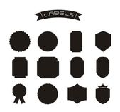 Silhouette labels — Stock Vector