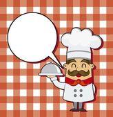 Cartoon chef-kok — Stockvector