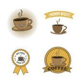 Kaffe vektor — Stockvektor