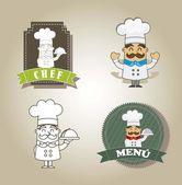 Cartoon chef — Stock Vector