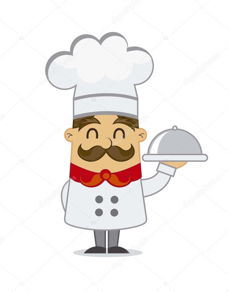 Cocinero de dibujos animados vector de stock 12467429 for Herramientas de un cocinero