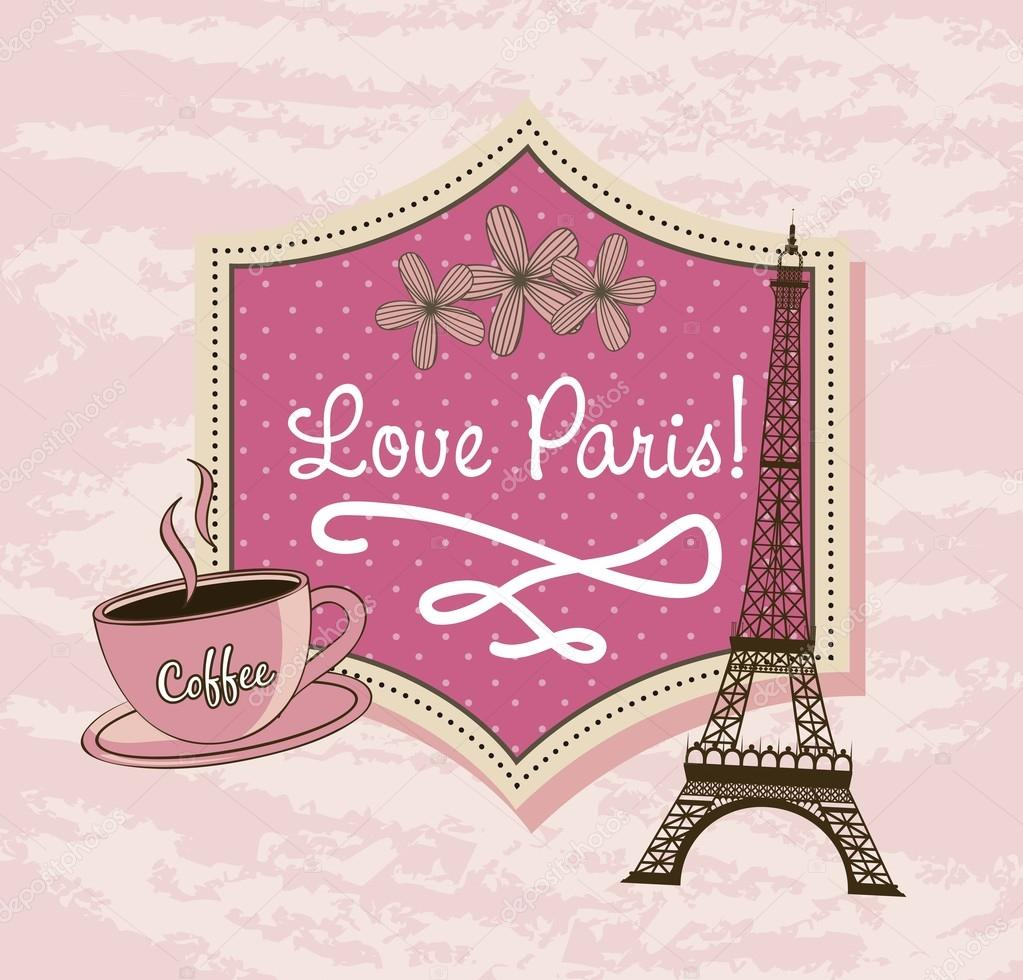 Love paris stock illustration