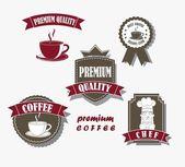 Kaffe etiketter — Stockvektor