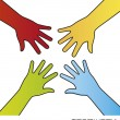 Hands vector — Stock Vector