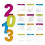 2013 calendar — Stock Vector #12559555