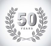 50 years — Stock Vector