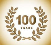 100 years — Stock Vector