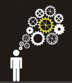 Myślenie — Wektor stockowy