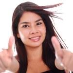 Woman Thumbs — Stock Photo