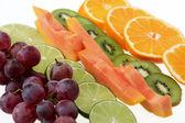 Line of fruit — Stock Photo