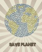 Save planet — Stock Vector
