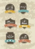 Music tags — Stock Vector