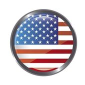 United states flag button — Stock Vector