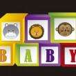 Stock Vector: Baby blocks