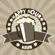 Happy-hour — Vetor de Stock  #12881400
