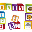 Baby blocks — Stock Vector