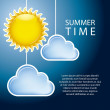 Summer time — Vector de stock #12881703