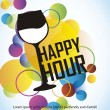 Happy-hour — Vetor de Stock  #12882150