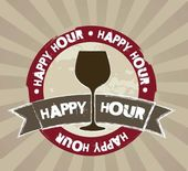 Happy hour — Stockvector