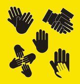 Vetor de mãos — Vetorial Stock