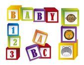 Baby blocks — Stock Vector