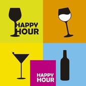 Happy hour — Wektor stockowy