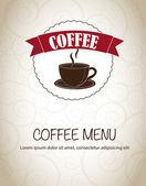 Cafe menu — Vecteur