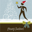 Christmas card — Vector de stock #13216990