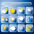 Weather icons - Stockvectorbeeld