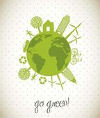 Go green — Stock Vector