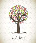 Cute tree — Stock Vector