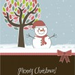 Christmas card - Stockvectorbeeld