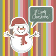 Merry christmas card - Stockvectorbeeld