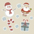 Christmas objects — Stock Vector