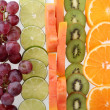 Stock Photo: Sliced fruits