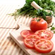 Stock Photo: Tomatoes and cilantro