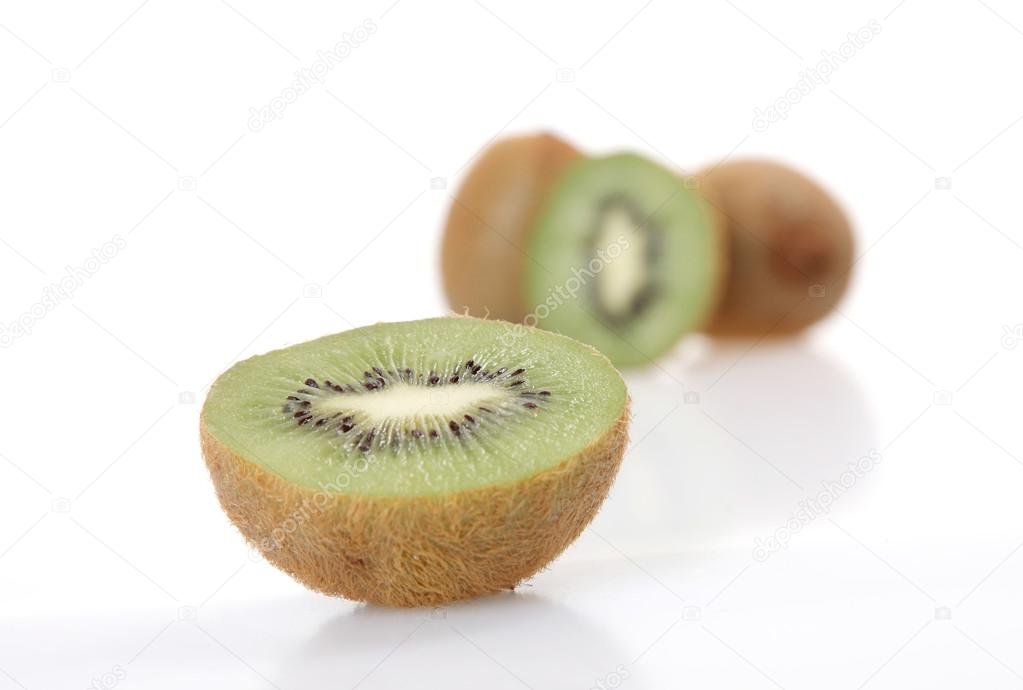 Isolada Kiwi with a background of a group of kiwis  — Stock Photo #13241352