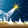 Nativity scene — Stock Vector