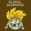 Global warming — Stockvectorbeeld
