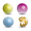 3d spheres — Stock Vector