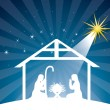 Stock Vector: Nativity scene