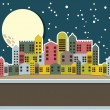 Cute old city — Stock Vector #13405694