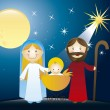Nativity scene — Stock Vector #13406555