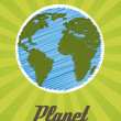 Planet-cartoon — Stockvektor  #13406816