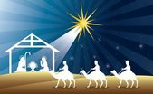 Nativity scene — Vector de stock