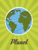 Planet cartoon — Stock Vector