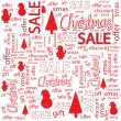 Christmas sales  — Stock Vector