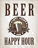 Poster Beer — Stock Vector